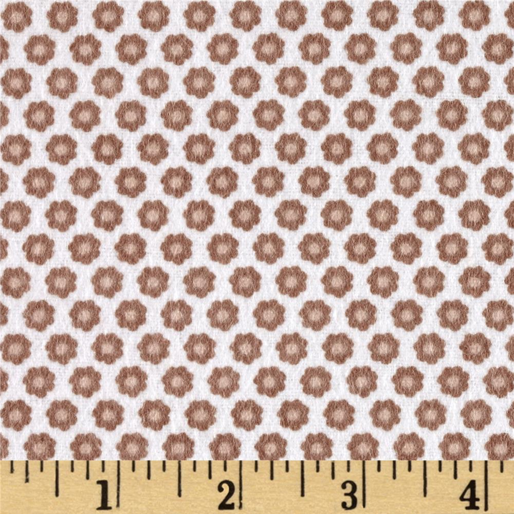 Michael Miller Nature Babies Flannel Lil Buds Brown Fabric