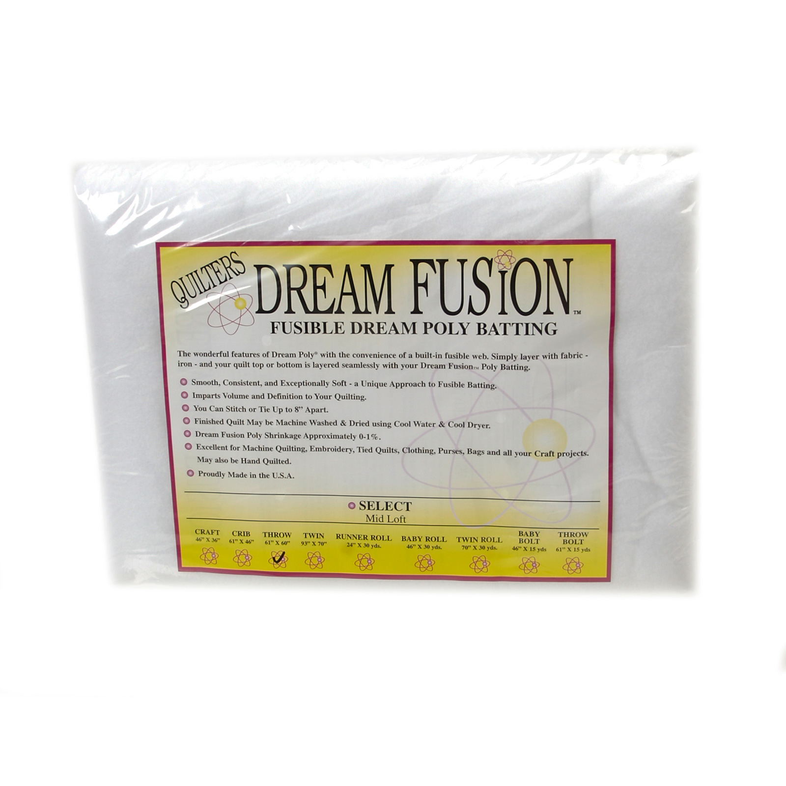 Quilter's Dream Fusion Poly Select (60'' x 60'') Throw by Quilter's Dream in USA