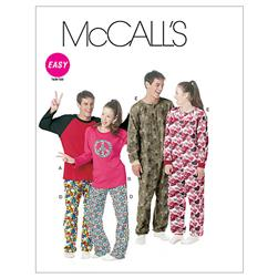 McCall's Misses'/Men'S/Teen Boys' Tops, Pants And Jumpsuit Pattern M6251 Size 0Y0