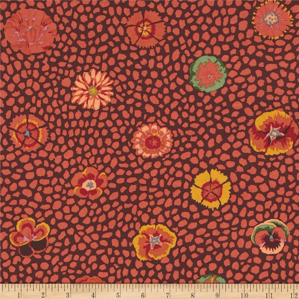 Kaffe Fassett Collective Guinea Flower Brown