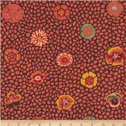 Kaffe Fassett Collective Guinea Flower Brown Fabric
