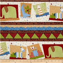 Jungle Buddies Repeating Stripe Multi
