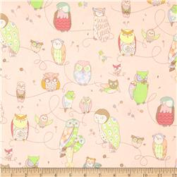Rita Flora Spotted Owl Pale Pink