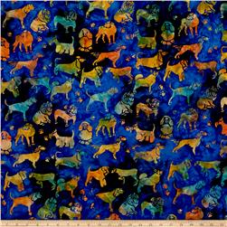 Island Batik Cotton Dogs Universe