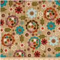 Woodland Critters Floral Light Beige