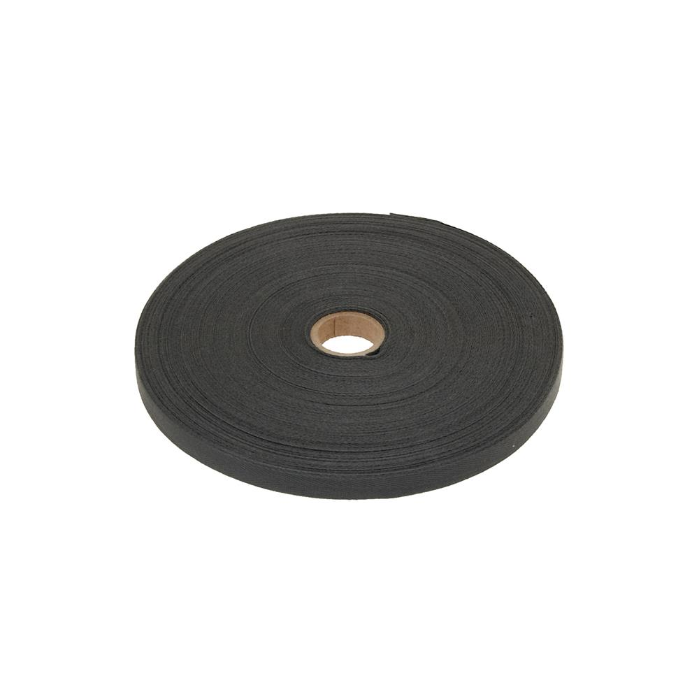 "Cotton Twill Tape Roll 3/8"" Dark Gray"