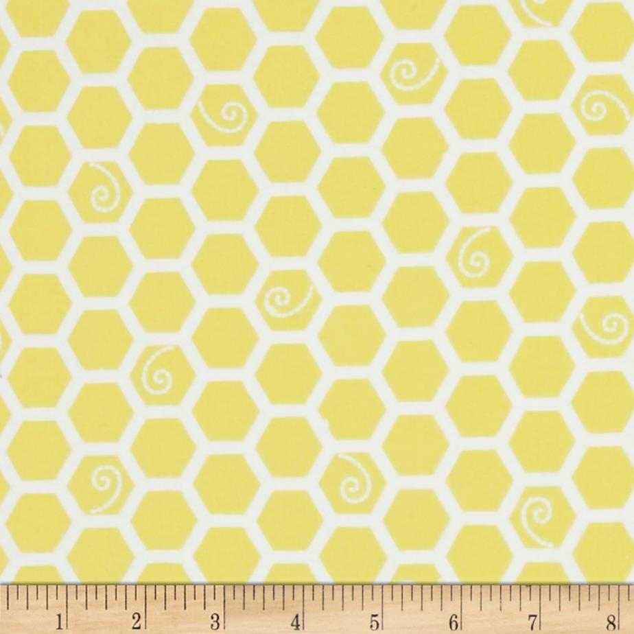 Kimberbell Little One Flannel Too! Honeycomb Sunny Yellow