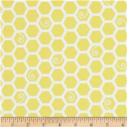 Kimberbell Little One Flannel Too! Flannel Honeycomb Sunny Yellow