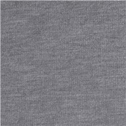 Cotton French Terry Knit Solid Heather Gray