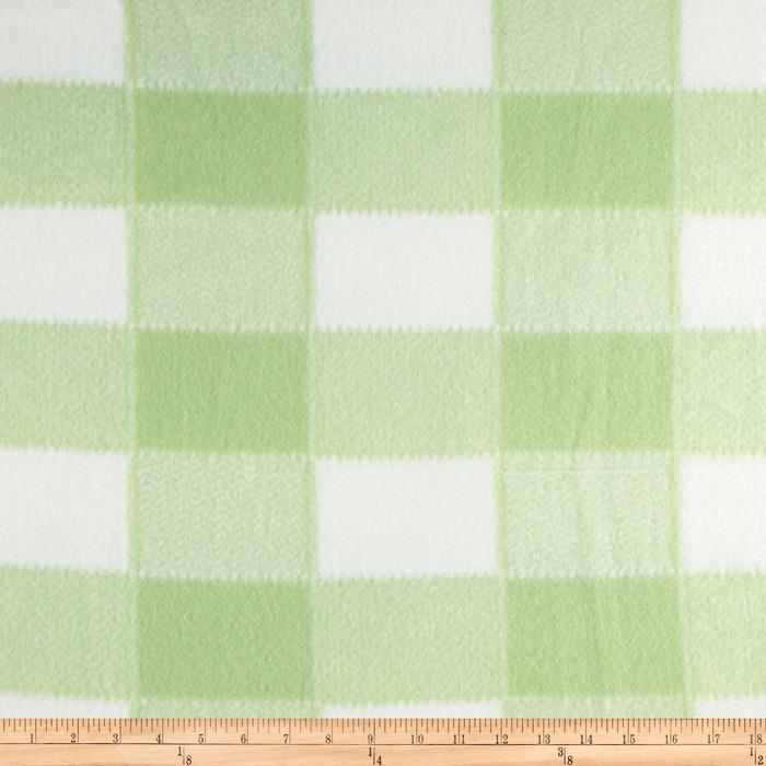 Large Baby Plaid Fleece Pale Green