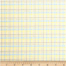 Baby Business Sweet Tweet Plaid Yellow/Blue Fabric