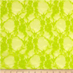 Giselle Stretch Floral Lace Lime
