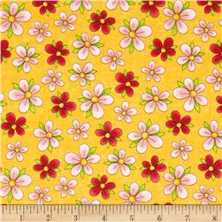 Miss Kitty's Colors Floral Yellow