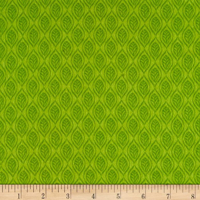 Classic Cottons Jungle Power Flannel Tonal Leaves Green