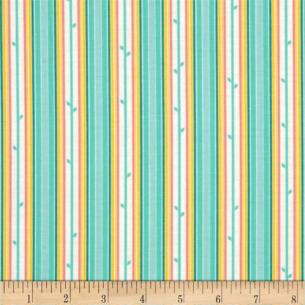 Moda Chantilly Stem Stripe Brook