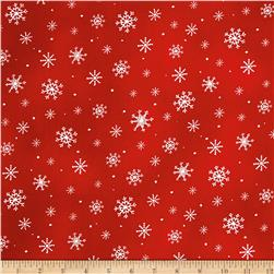 Just Chillin' Snowflakes Red