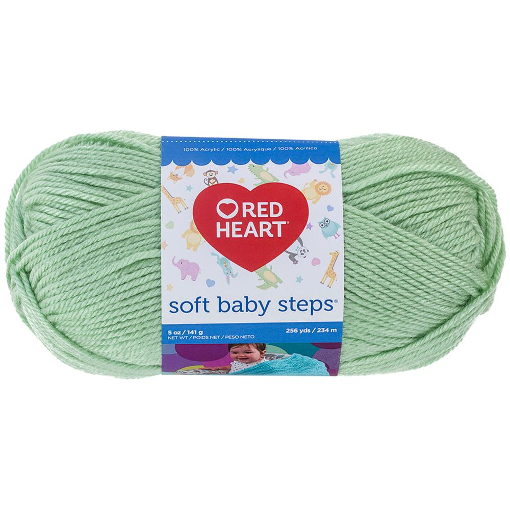 Red Heart Soft Baby Steps 9620 Baby Green