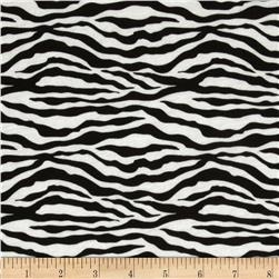 Cotton Jersey Knit Zebra Black/White