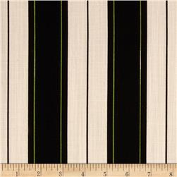 Georgette Home Decor Slub Stripe Tan/Black