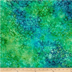 "Timeless Treasures Tonga Batiks 106"" Wide Viney Leaf Lagoon"