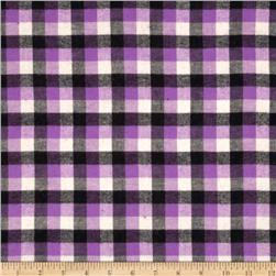 Yarn Dyed Flannel Plaid Purple