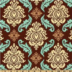 Aviary 2 Damask Bark Fabric