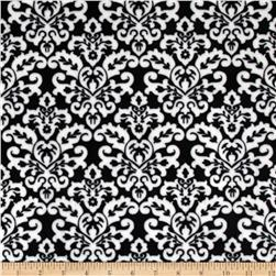 Minky Cuddle Classic Damask Black/Snow Fabric