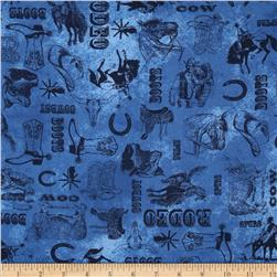 Ironwood Ranch Toile Blue