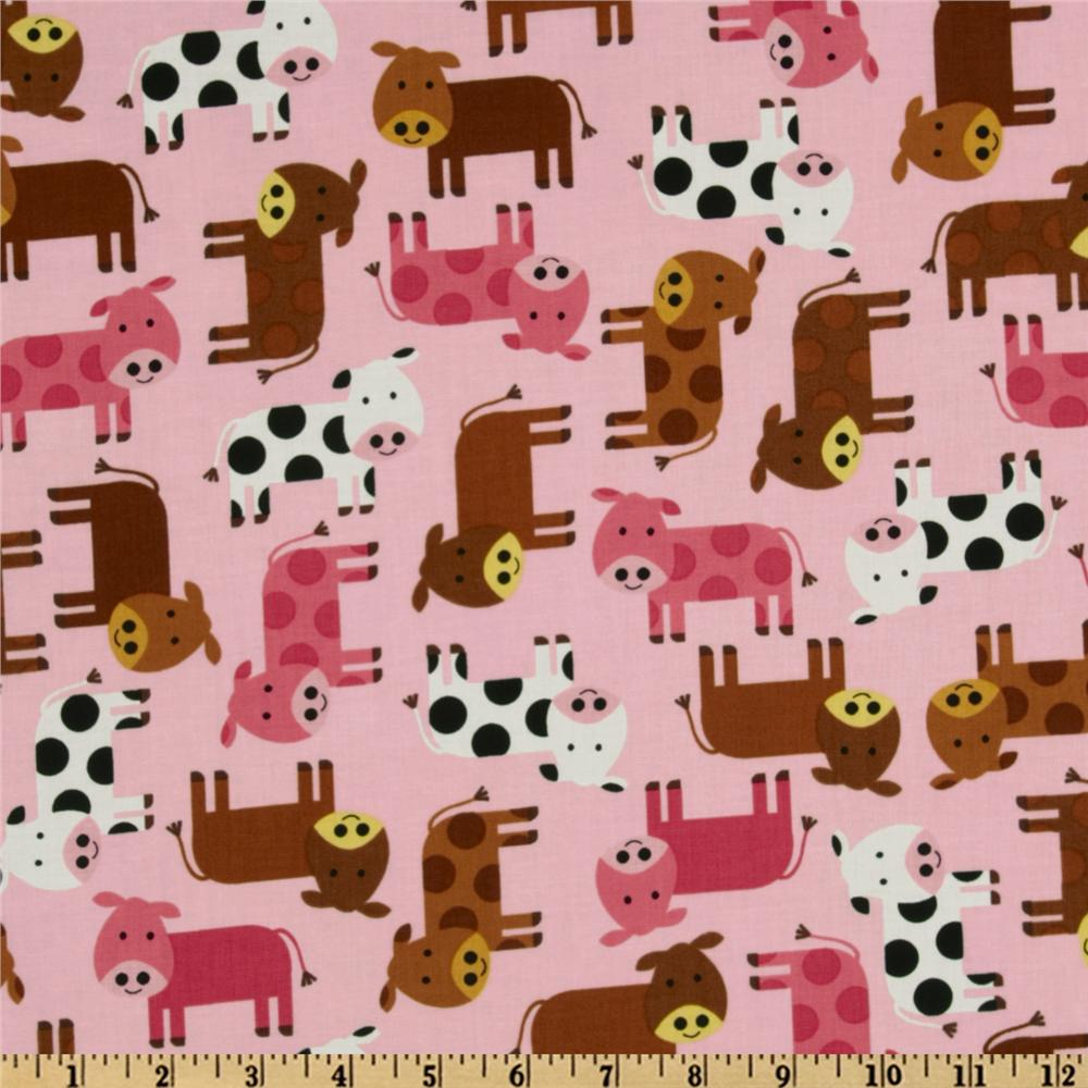 Urban Zoologie Baby Cows Pink