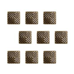 Brass Dome Chevron 24pc