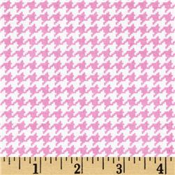 Michael Miller Tiny Houndstooth Peony Fabric