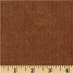 Primo Plaids Flannel Yarn Dyed Herringbone Small Brown
