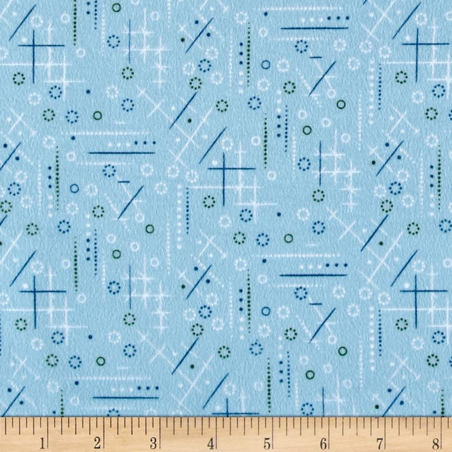 Cozies Flannel Geo Blue Fabric