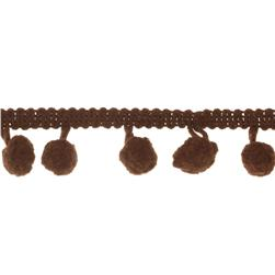 Riley Blake 1/2'' Regular Pom Pom Trim Brown