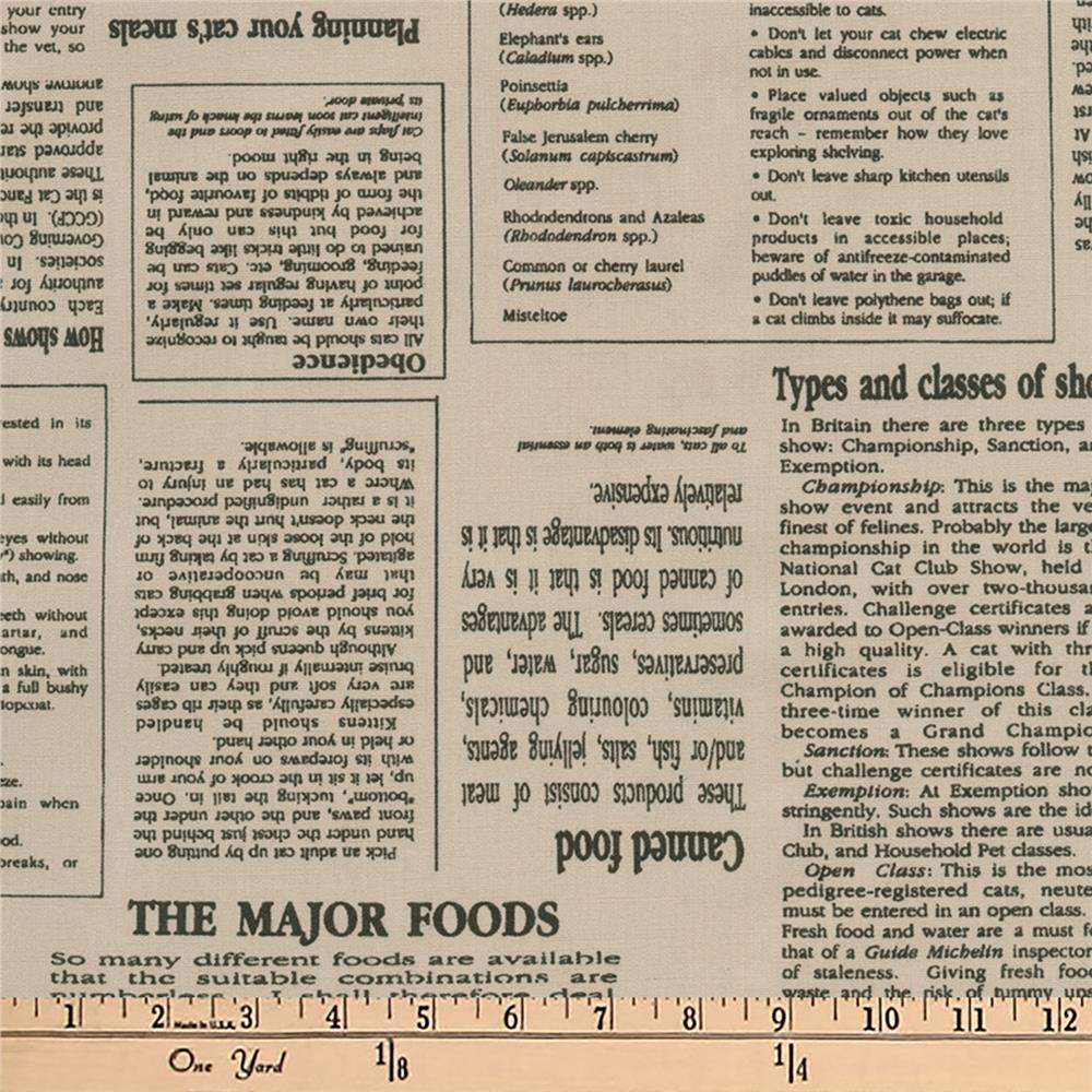 Kaufman In The Press Small Type Natural
