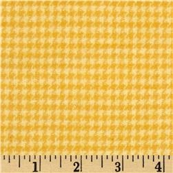 Cozy Yarn Dye Flannel Mini Houndstooth Butter