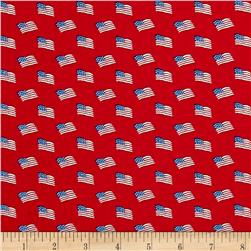 Storybook Americana Flags Red