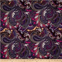 Jersey Knit Paisley Purple
