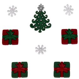 Dress It Up Embellishment Buttons  Whimsical Christmas