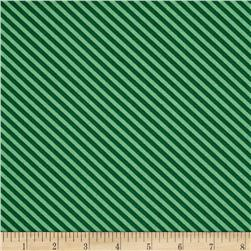 O' Christmas Tree Diagonal Stripe Green