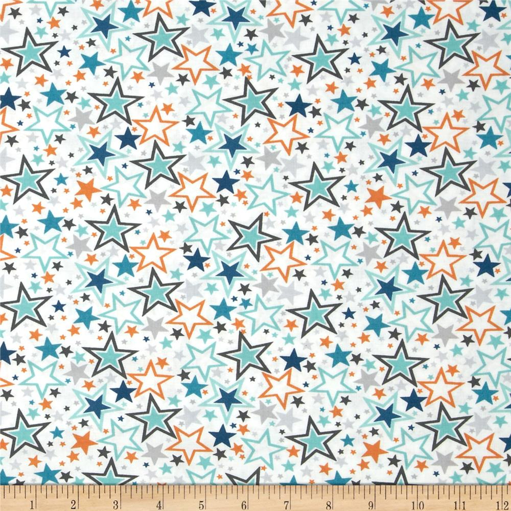 Blast-Off Stars Allover White