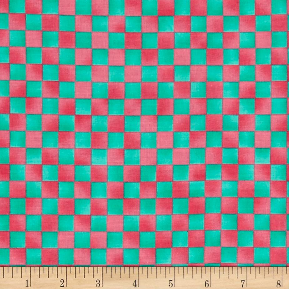 Graphix Checkerboard Pink/Green