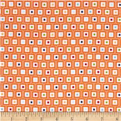 Riley Blake Play Ball Flannel Geo Orange
