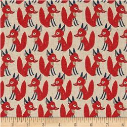 Seven Islands Foxes Cotton/Linen Blend Coral