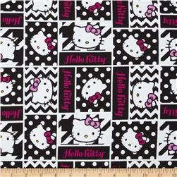 Hello Kitty Black and White Geometric Face Patch