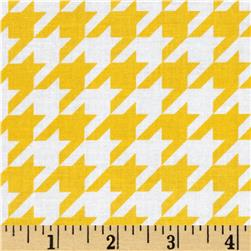 Riley Blake Medium Houndstooth Yellow