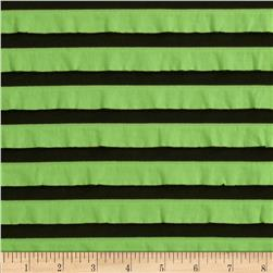 Two-Tone Ruffle Knit Lime/Black Fabric