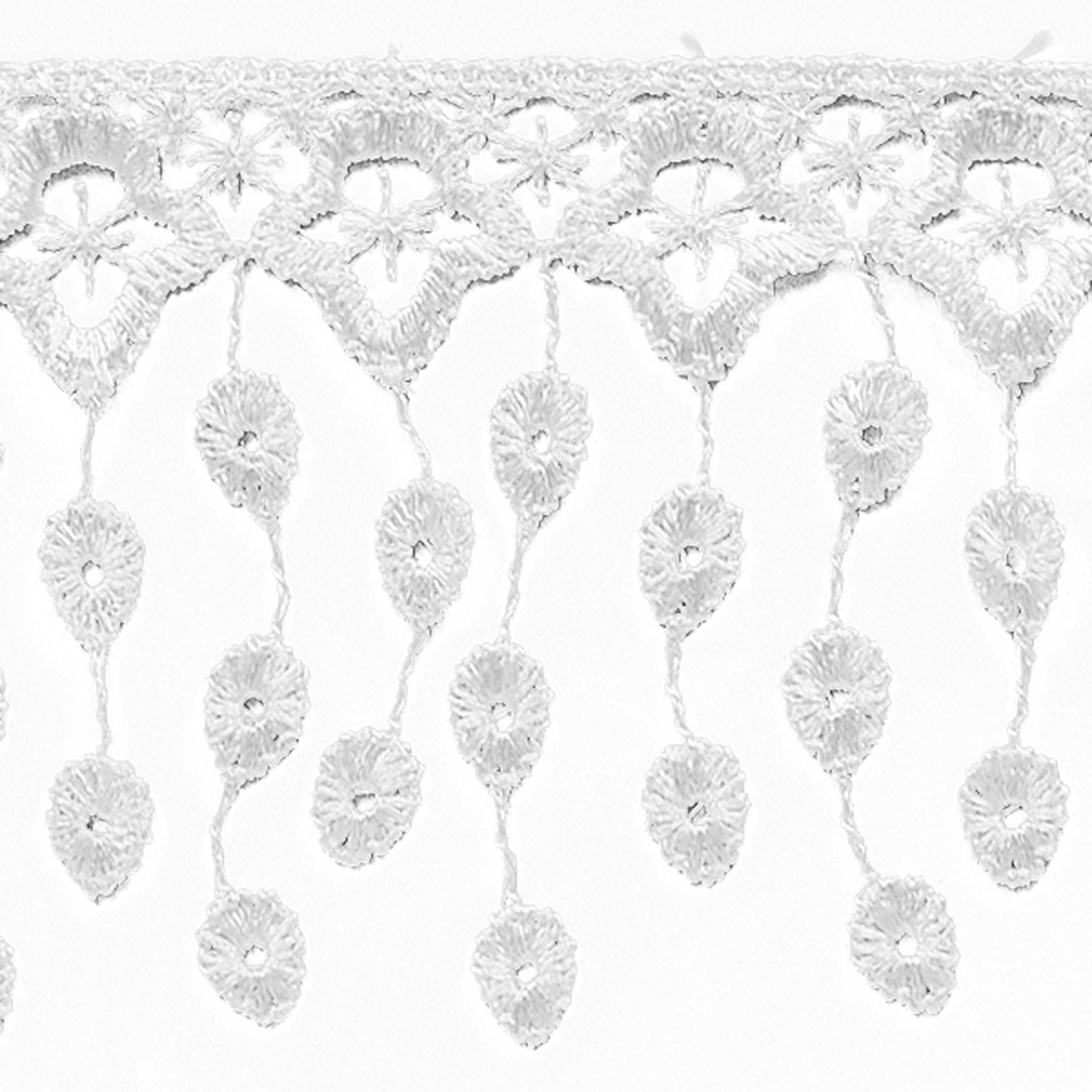 Guide to Victorian Civil War Costumes on a Budget 3-14 Abigail Victorian Lace Fringe Trim White $2.30 AT vintagedancer.com