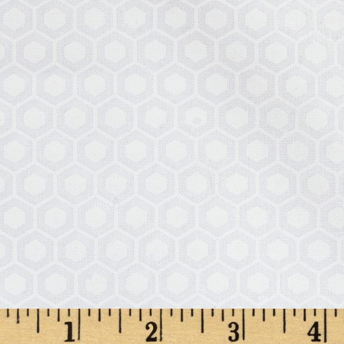 Moda Muslin Mates Hexagon White