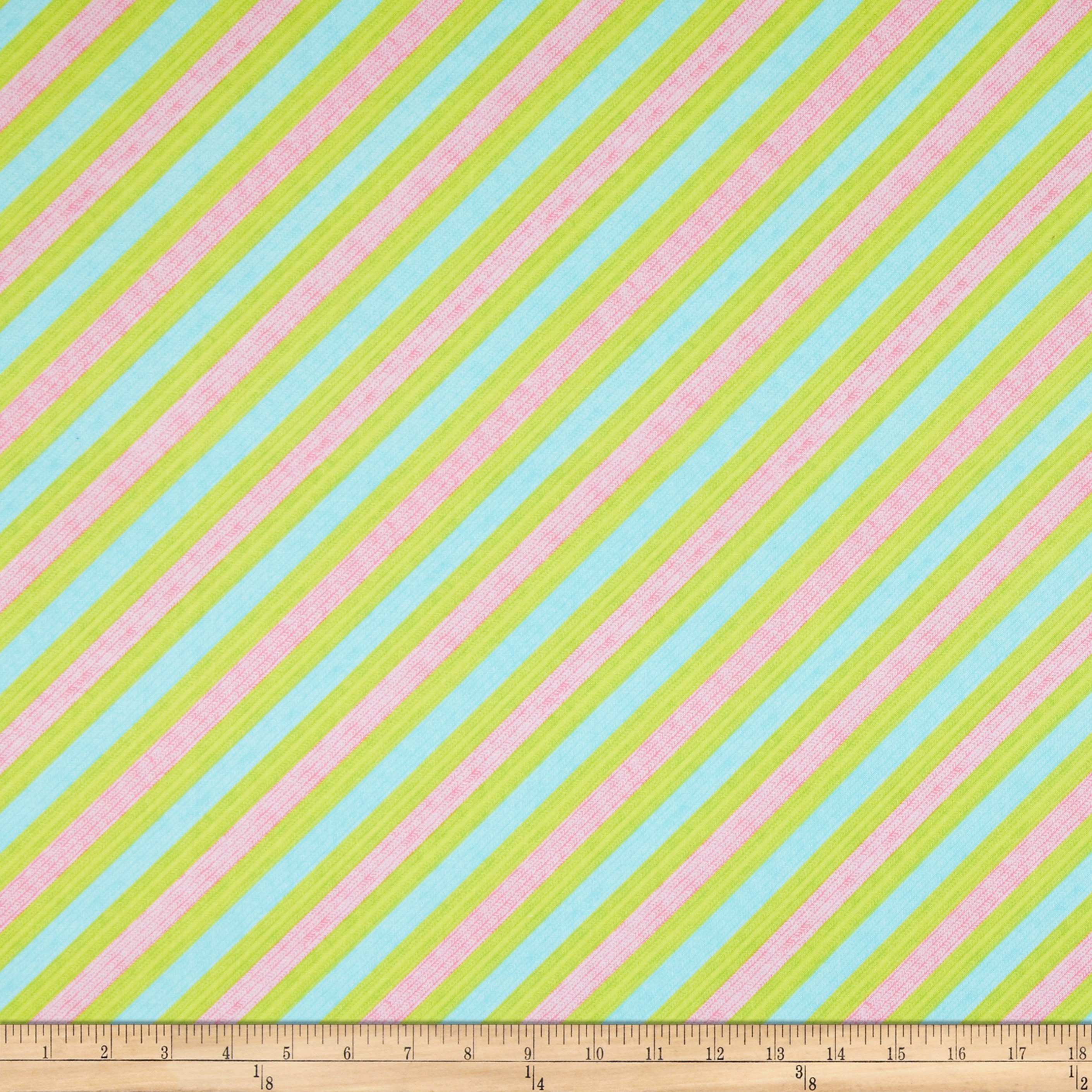 Frosty Flakes Diagonal Knit Stripe Blue Fabric by Henry Glass in USA